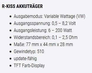 SMOK R-Kiss Akkuträger Bad Segeberg