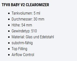 SMOK TFV8 Baby V2 Bad Segeberg