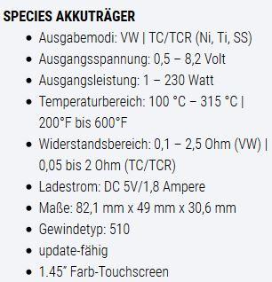 Smok Species Dampferladen Bad Segeberg